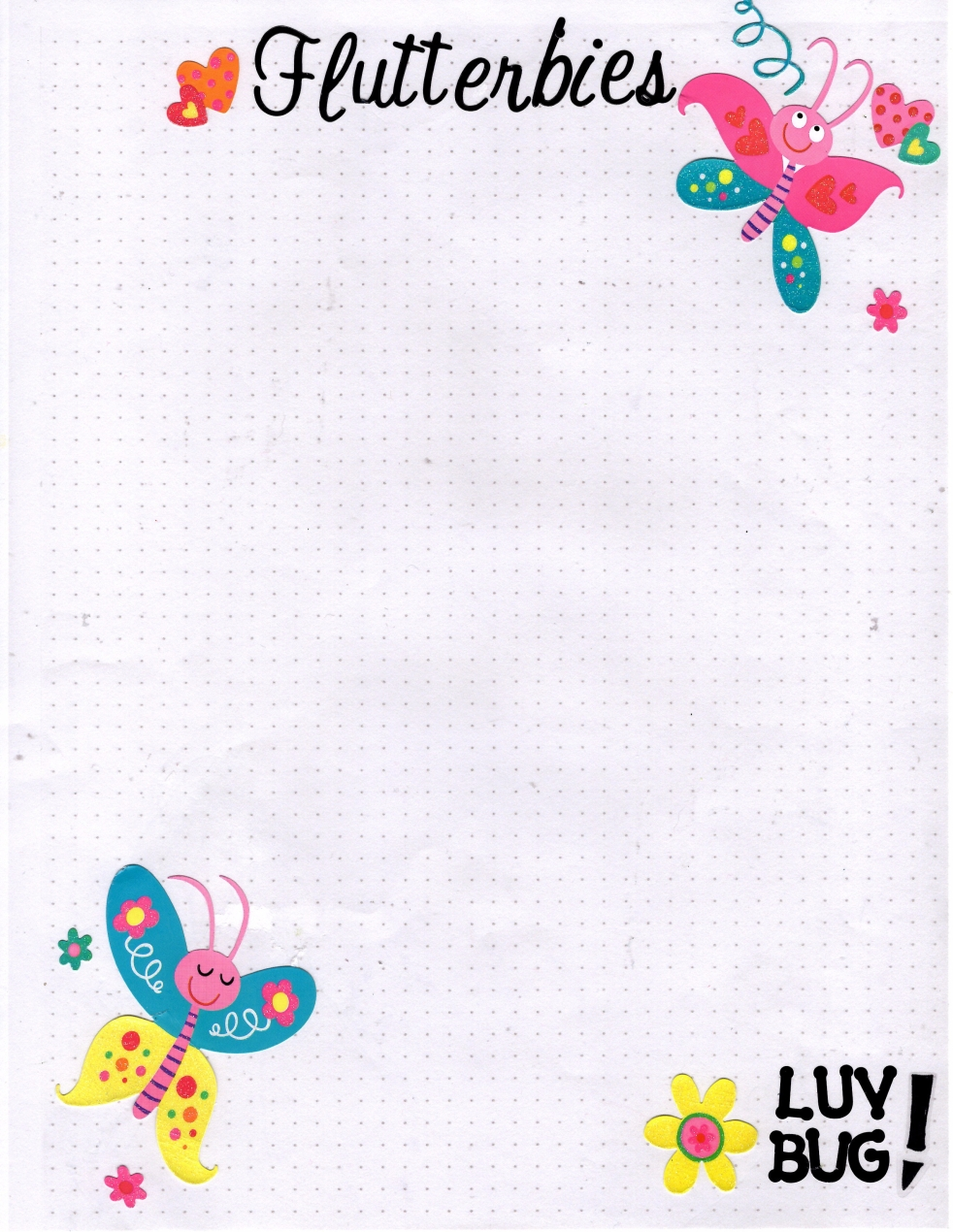 FLutterbies Hand Made Stationery